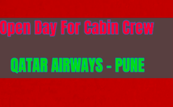 Qatar Airways Open Day for Cabin Crew - Pune Check Eligibility & Apply