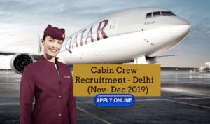 Qatar Airways Cabin Crew Recruitment - DELHI Apply Online