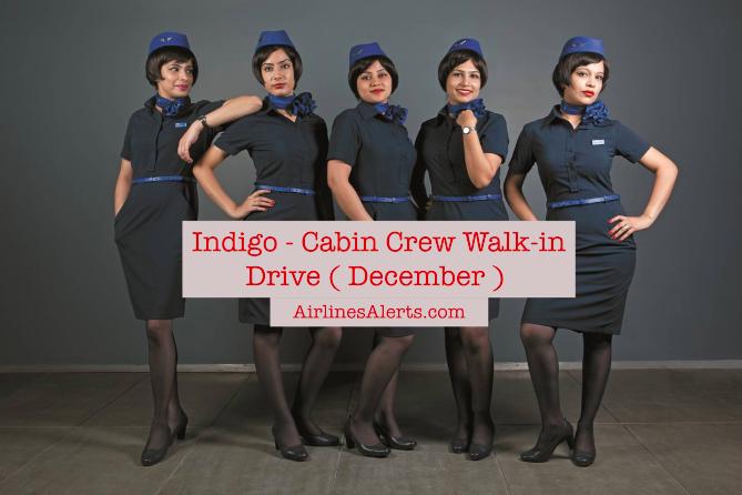 Upcoming Indigo Cabin Crew Interview - (December) - Apply Now - Indigo Cabin Crew Jobs in Kolkata 2019 -