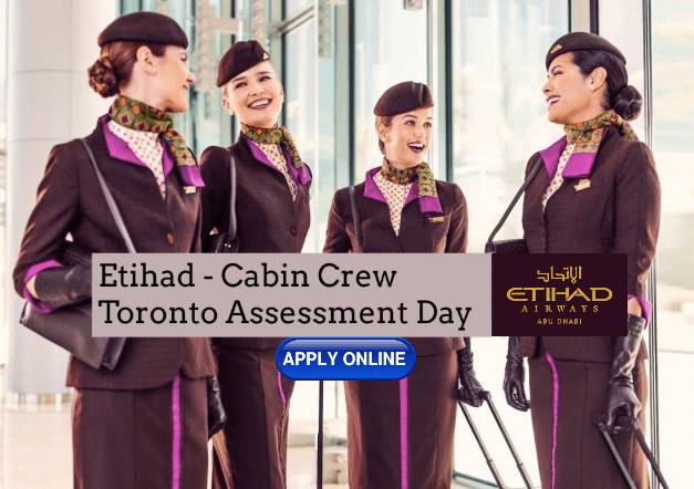 Etihad Airways Cabin Crew Recruitment - Toronto Assessment Center 2019 November