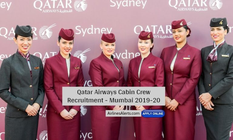 Qatar Airways Cabin Crew Recruitment - Mumbai 2019-20