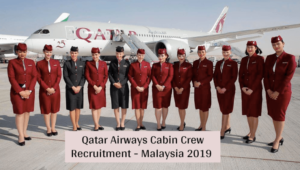 Qatar Airways Cabin Crew Recruitment [Kuala Lumpur] (December 2020)