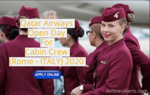 Open Day For Cabin Crew - Qatar Airways 2020 (Rome - Italy)