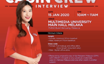Air Asia Walk-in-Interview For Cabin Crew (January 2020)