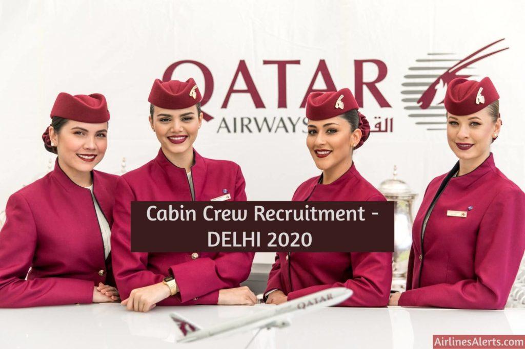Qatar Airways Cabin Crew Recruitment [Delhi] (February 2020) Apply Now