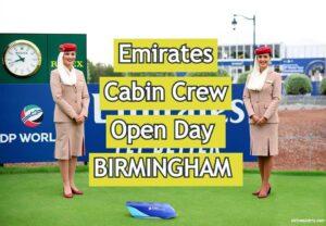 Emirates Open Day For Cabin Crew –BIRMINGHAM [ 2020 ] Apply Online