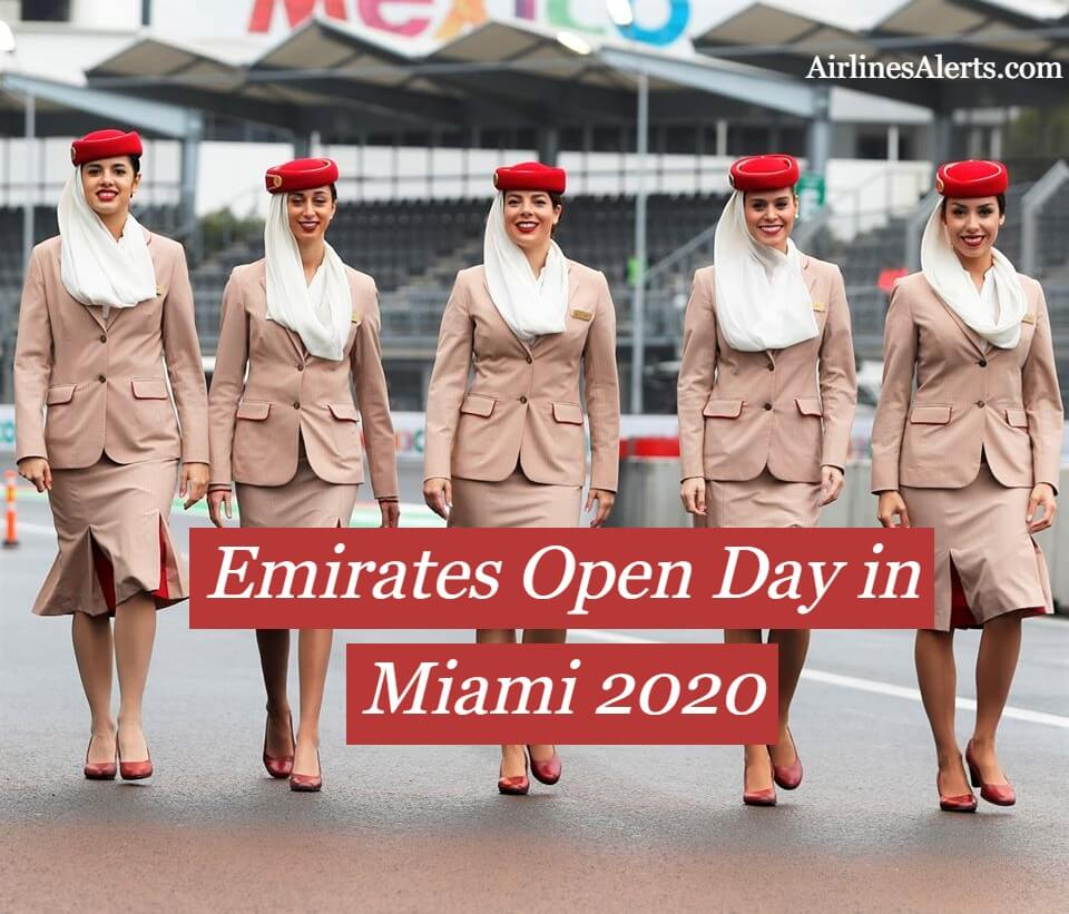 Emirates Open Day For Cabin Crew in MIAMI [ March 2020 ] - Apply Now