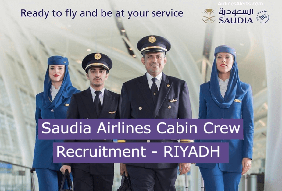 Saudia Airlines Cabin Crew Recruitment ( Male ) - RIYADH [Feb 2020]