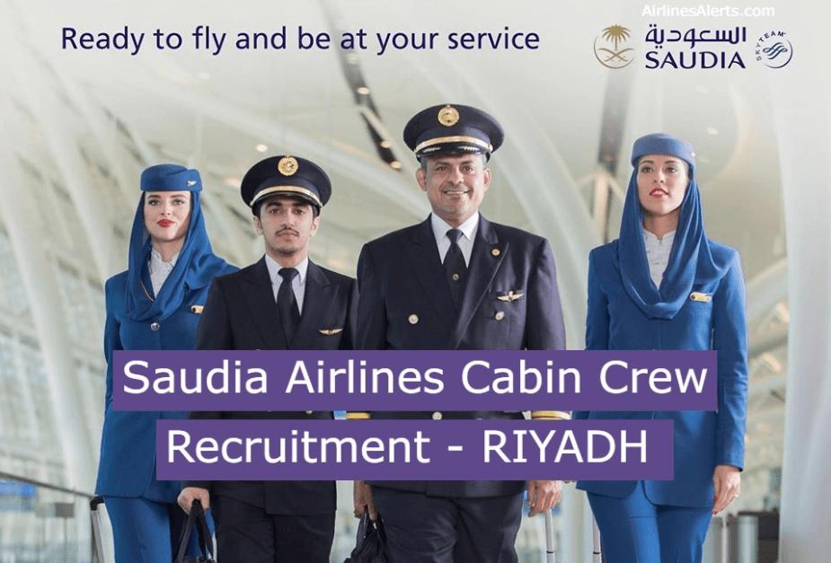 Saudia Airlines Cabin Crew Recruitment ( Male ) - RIYADH [Feb 2020]