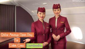 Qatar Airways Open Day For Cabin Crew - (Cambodia ) 2020 - Apply Now