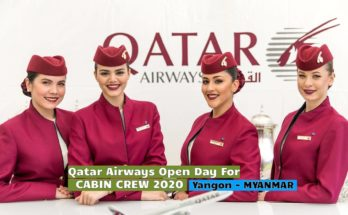 Qatar Airways Open Day For Cabin Crew Yangon (Myanmar) - [2020]