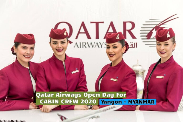 Qatar Airways Open Day For Cabin Crew Yangon (Myanmar) - [2020]