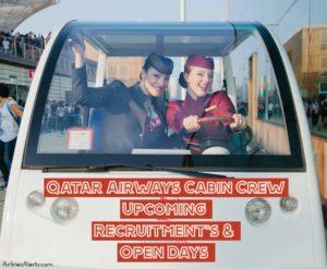 Qatar Airways Cabin Crew Recruitment List, Upcoming Open Days & Recruitment World Wide
