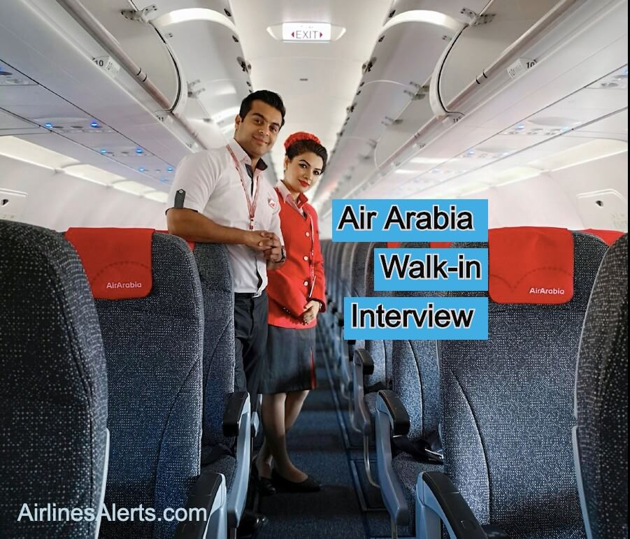 Air Arabia Walk-in-Interview for Flight Attendant - Egypt ( 2020 )