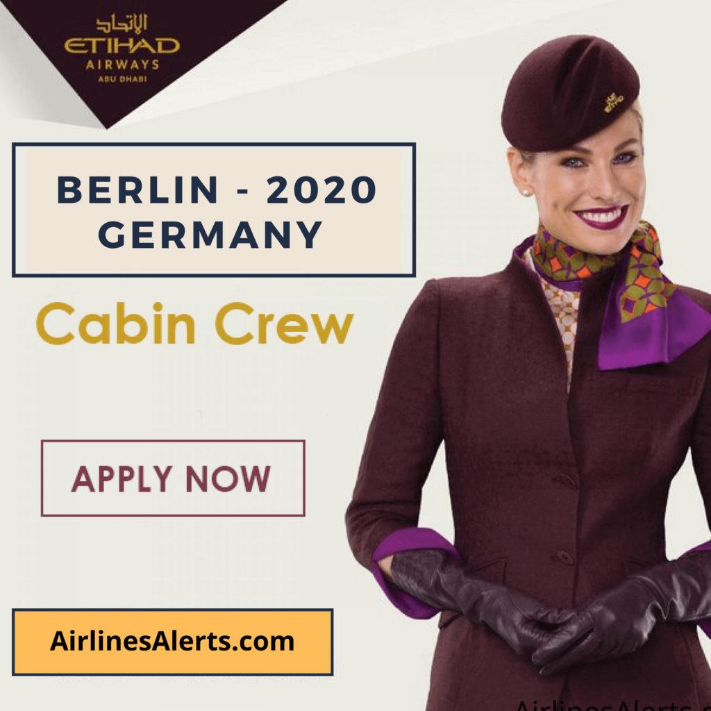 Etihad Cabin Crew Recruitment Berlin 2020 Germany - APPLY Now