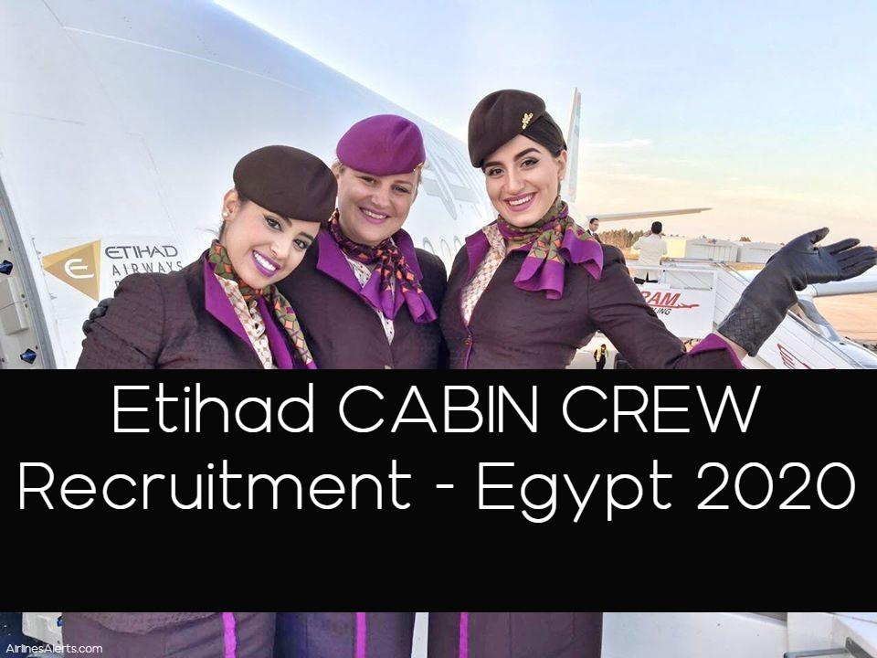 Etihad Cabin Crew EGYPT Recruitment 2020 Apply Online Now