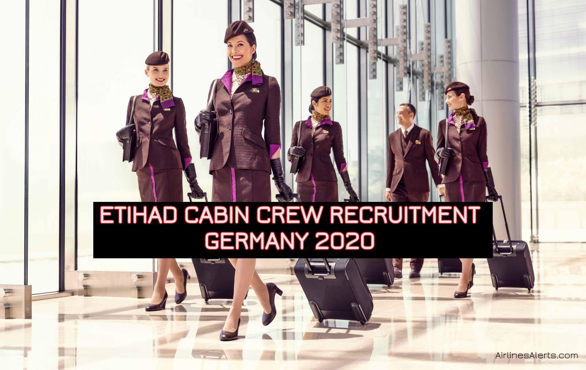 Etihad Cabin Crew Recruitment Germany 2020 - Frankfurt Centre