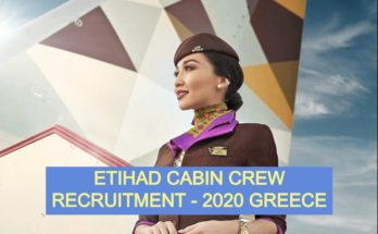 Cabin Crew Greece Recruitment ETIHAD Airways 2020 -