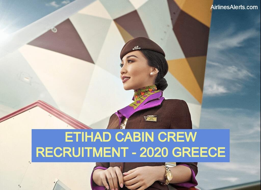 Cabin Crew Greece Recruitment ETIHAD Airways 2020 -