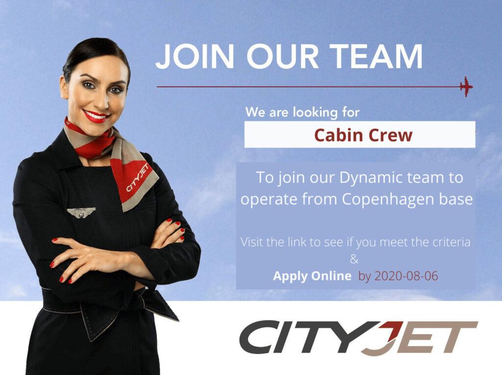 CityJet Cabin Crew Hiring Copenhagen - July 2020 - Denmark Cityjet Cabin Crew Copenhagen